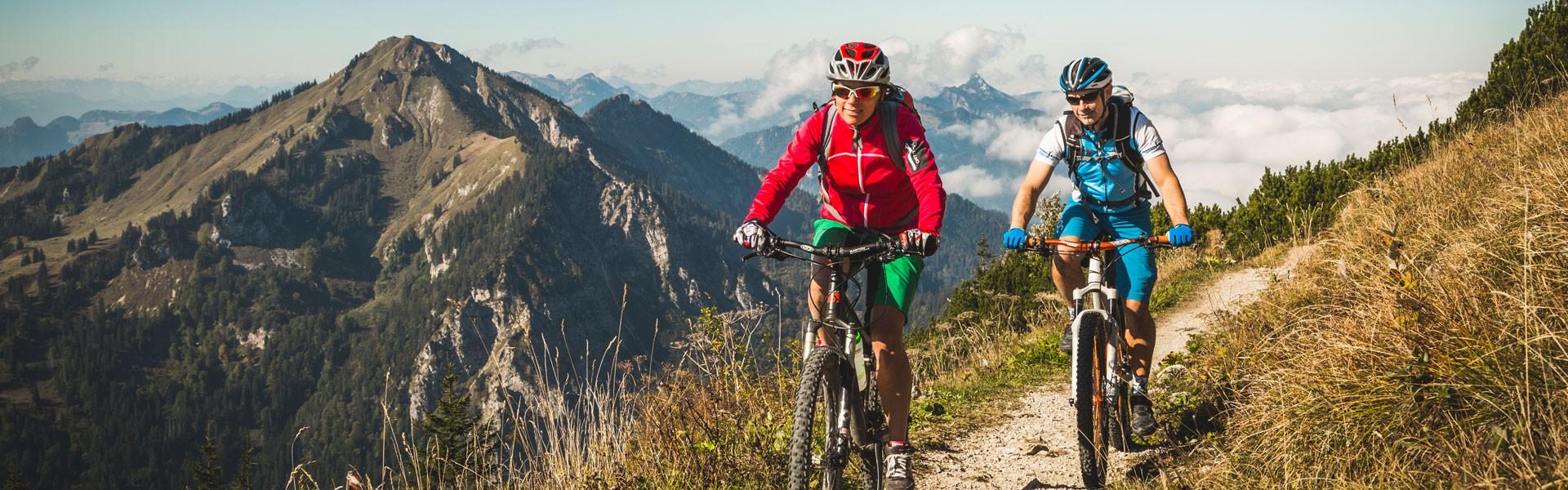 Mountainbikefahrer am Hochfelln
